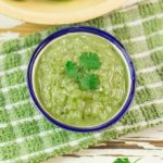 This simple roasted tomatillo salsa recipe is easy to make. Roasting the vegetables adds a delicious smoky flavor and mellows the acidity of the tomatillos. Enjoy this salsa verde with your favorite Mexican dishes.